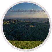 Rolling Mountain - Algarve Round Beach Towel