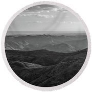 Rolling Mountain Round Beach Towel