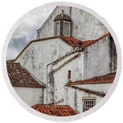 Rooftops Of Obidos Round Beach Towel
