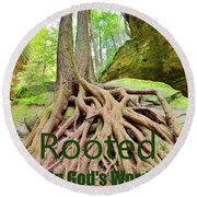 Rooted In God's Word Round Beach Towel