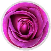 Rosa Big Purple Flower Round Beach Towel