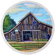 Roseberry Barn Round Beach Towel