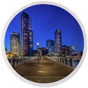 Rottedam Rijnhaven Bridge Round Beach Towel
