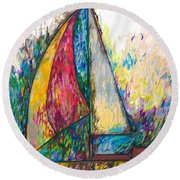 Rough Sailing Round Beach Towel