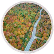 Round Beach Towel featuring the photograph Route 42 Aerial by Adam Romanowicz