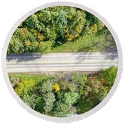 Route 54 Round Beach Towel