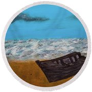 Row Your Boat Round Beach Towel
