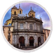 Royal Basilica Of San Francisco El Grande Round Beach Towel