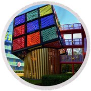Rubik's Cube At Pop Century Round Beach Towel