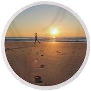 Run Free Round Beach Towel