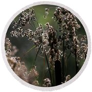 Rushes And Cattails 7g Round Beach Towel