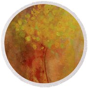 Round Beach Towel featuring the painting Rustic Still Life by Valerie Anne Kelly