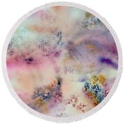 Sacred Flow Round Beach Towel
