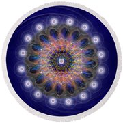 Sacred Geometry 726 Round Beach Towel