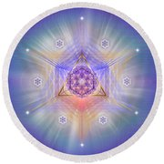 Sacred Geometry 734 Round Beach Towel