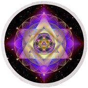 Sacred Geometry 741 Round Beach Towel