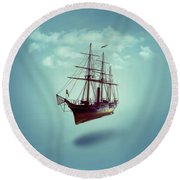 Sailed Away Round Beach Towel
