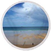 Saint Malo 1 Round Beach Towel