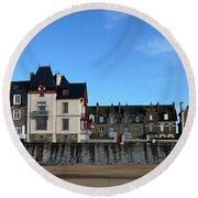 Saint Malo 13 Round Beach Towel