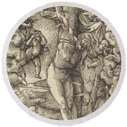 Saint Sebastian, 1514 Round Beach Towel