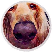 Saluki 3 Round Beach Towel