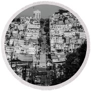 Round Beach Towel featuring the photograph San Francisco by Stuart Manning