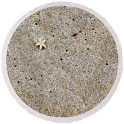 Sands Of Happiness Round Beach Towel