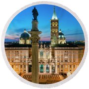 Round Beach Towel featuring the photograph Santa Maria Maggiore by Fabrizio Troiani