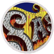 Round Beach Towel featuring the photograph Sas by Skip Hunt