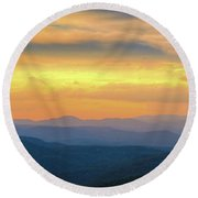 Sassafras Sunset Round Beach Towel