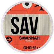 Sav Savannah Luggage Tag I Round Beach Towel