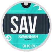 Sav Savannah Luggage Tag II Round Beach Towel
