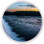 Savannah Rapids Sunrise - Augusta Ga Round Beach Towel