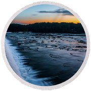Savannah Rapids Sunrise - Augusta Ga Round Beach Towel