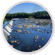 Savannah River Rapids - Augusta Ga 2 Round Beach Towel