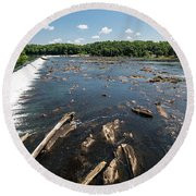 Savannah River Rapids - Augusta Ga Round Beach Towel