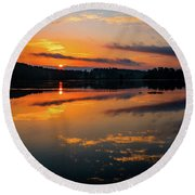 Savannah River Sunrise - Augusta Ga 2 Round Beach Towel