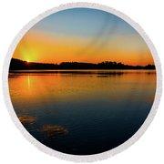 Savannah River Sunrise - Augusta Ga Round Beach Towel