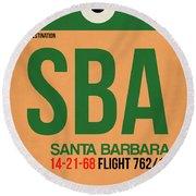 Sba Santa Barbara Luggage Tag I Round Beach Towel