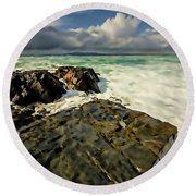 Scarista Digital Painting Round Beach Towel