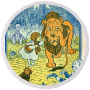 Scene From The Wizard Of Oz Round Beach Towel