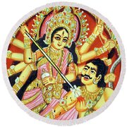 Scenes From The Ramayana Round Beach Towel
