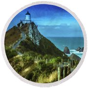 Scenic View Dwp75367530 Round Beach Towel