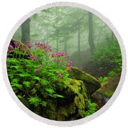 Scent Of Spring Round Beach Towel