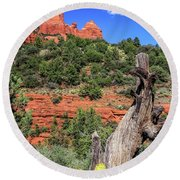 Schnebly Hill View, Sedona Round Beach Towel