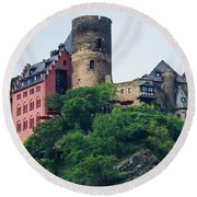 Schonburg Castle Round Beach Towel