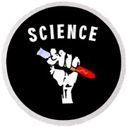 Science Chemistry Round Beach Towel