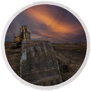 Round Beach Towel featuring the photograph Scoop by Aaron J Groen