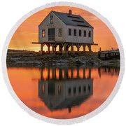 Scorched Symmetry Round Beach Towel