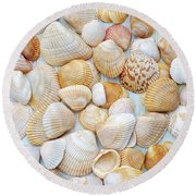 Sea Of Gold II Round Beach Towel